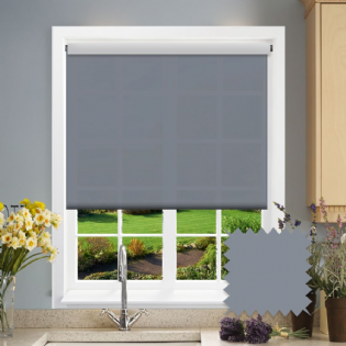Grey Roller Blind - Astral Sonar